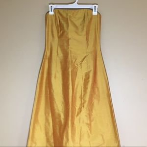 Jessica McClintock vintage strapless gold yellow